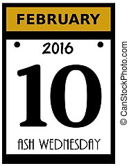 ash wednesday  icon - 2016 ash wednesday calendar date icon