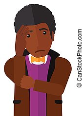 Ashamed young man. - Ashamed an african-american man...