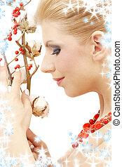 ashberry, menina, vermelho