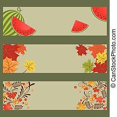 ashberry, outonal, cobrança, melancia, bandeiras, leaves.eps, horizontais, maple