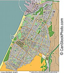 Ashdod Isreal aerial view