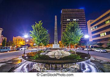 Ashevillle, North Carolina at Pack Square