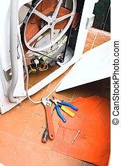 ashing machine Set of plumbing tools
