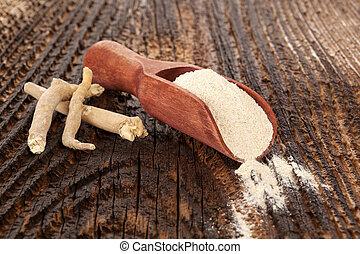 Ashwagandha Superfood remedy - Sshwagandha powder and root ...