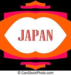 asiático, abstratos, geomã©´ricas, frame., japão, zen,...
