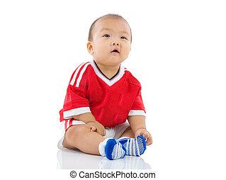 asiático, bebé
