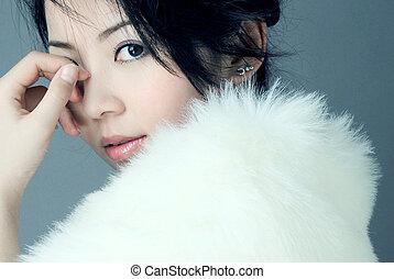 asiático, beleza
