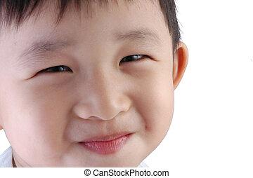 asiático, criança