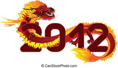 asiático, dragão