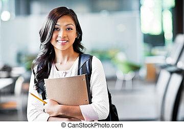 asiático, estudante universitário