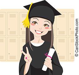 asiático, graduado