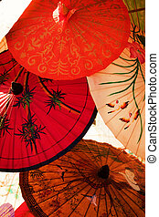 asiático, guarda-chuva