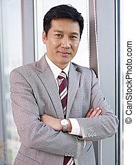 asiático, hombre de negocios