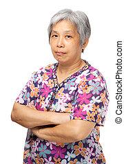 asiático, idoso