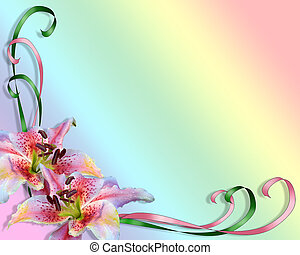 asiático, lírios, arco íris