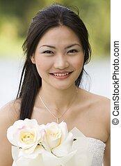 asiático, novia, 6