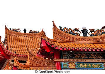 asiático, templo, arquitetura