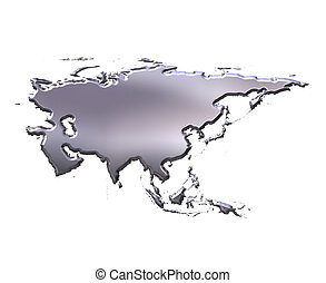 Asia 3D Silver Map