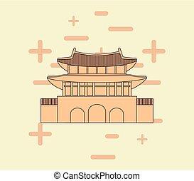 asia, architettura, disegno