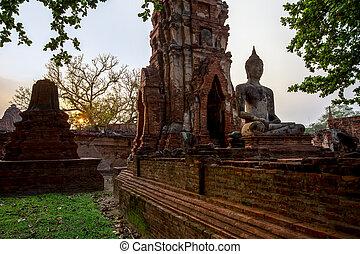 Asia, Ayuthaya, Ayuthaya Province, Thailand, Ancient - Old ...