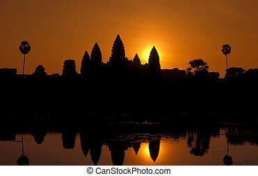 ASIA CAMBODIA ANGKOR - the angkor wat temple in Angkor at...