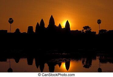 ASIA CAMBODIA ANGKOR - the angkor wat temple in Angkor at...
