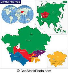 asia central, mapa