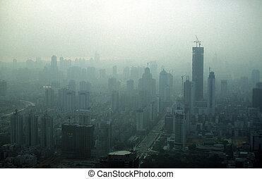 ASIA CHINA SHENZEN - the city of Shenzhen north of Hongkong...