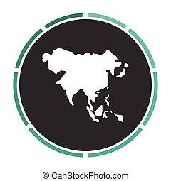 Asia computer symbol