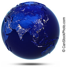 Asia continent and countries. Elements of this image...