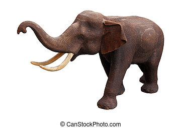 Asia elephant isolated on white background