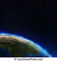 asia, espacio