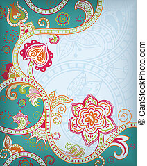 Asia Floral - Illustration of abstract floral background in...