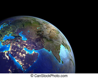 Asia from space