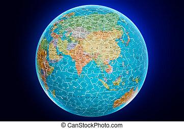 Asia Globe puzzle