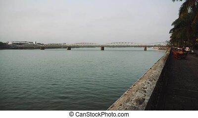 asia, grande, centro, río, vietnam, city.