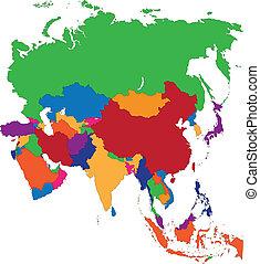 asia, mapa