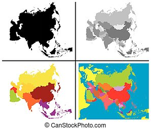 Asia Maps Collection
