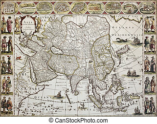 Asia old map