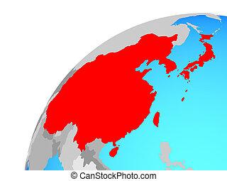 asia oriental, en, globo