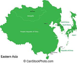 asia, orientale, verde
