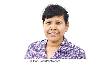 Asia Senior woman smiling