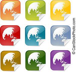 Asia square sticker