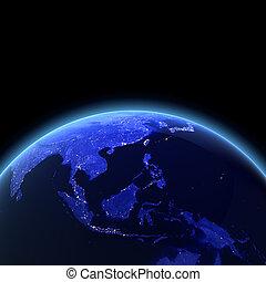 asia sud-est, render, 3d