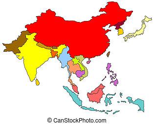 asia sud-orientale, mappa