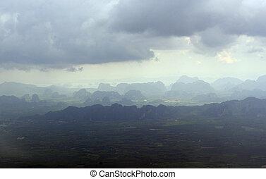 ASIA THAILAND KRABI - the landscape near Krabi in the south...