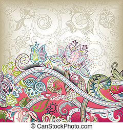 Asia Wedding Invitation Card - Illustration of abstract...