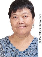 asia woman smile