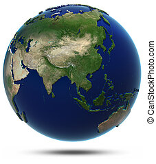 Asia world map. Elements of this image furnished by NASA