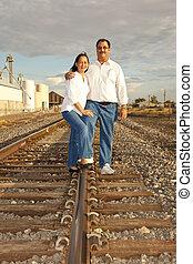 Asian American couple Portrait